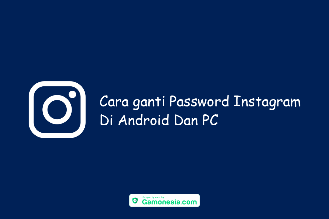 cara ganti password instagram di android