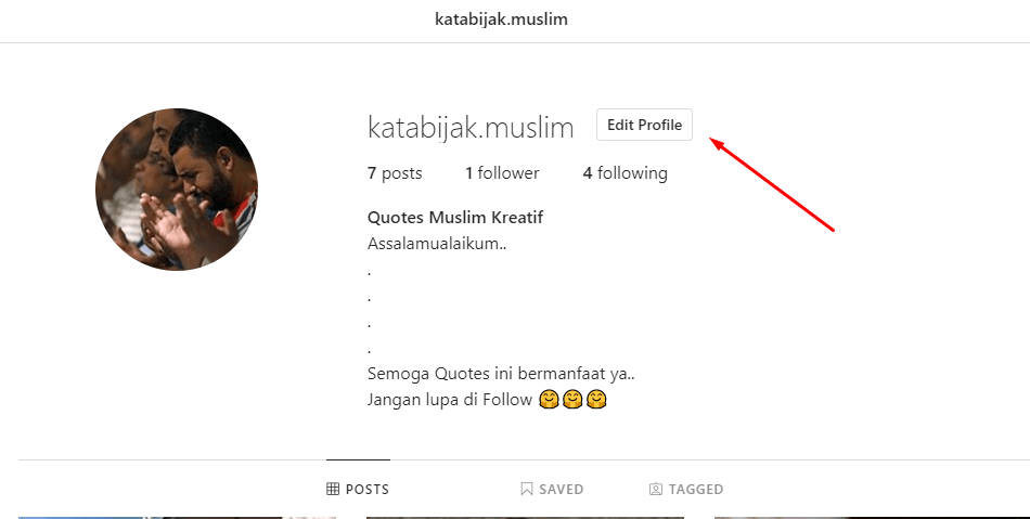 cara ganti password instagram di PC