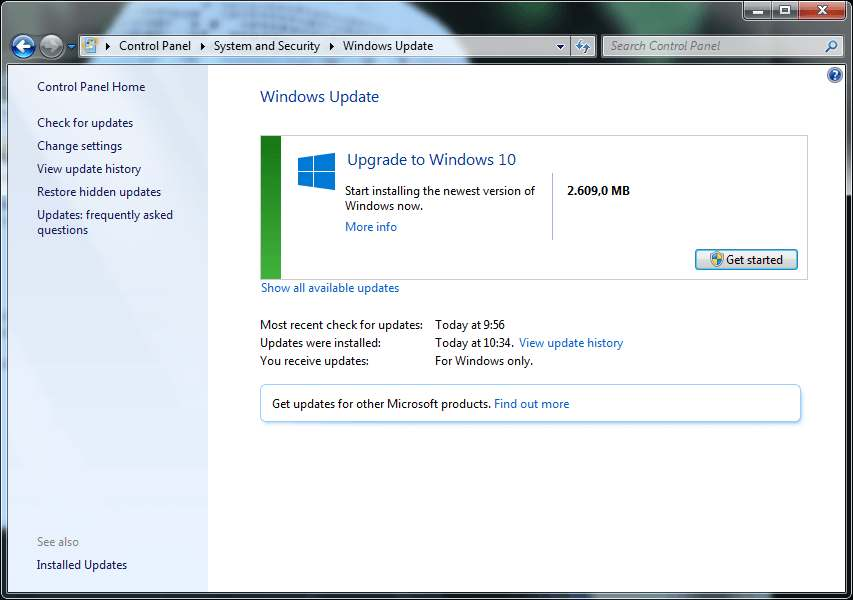 2 Cara Update Windows 10